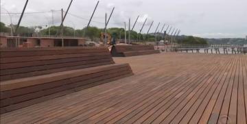 Revitalização da Orla do Guaíba em Porto Alegre está 65% concluída